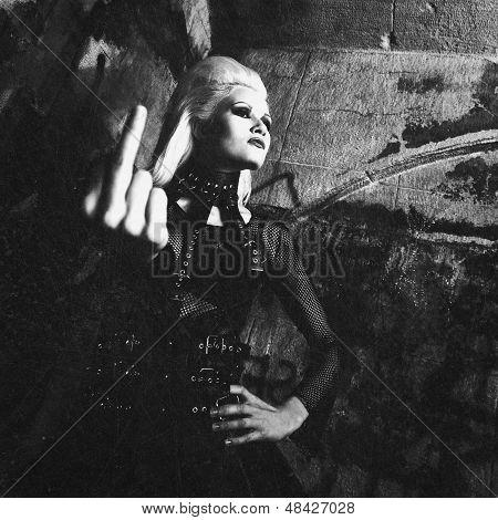 Grungy Female Portrait