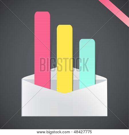 Open Envelope. Vector Design.