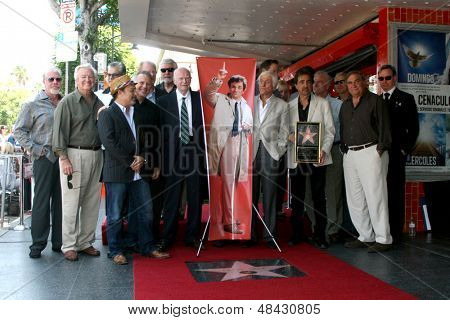 LOS ANGELES - JUL 25:  Paul Reiser, Joe Mantegna, Ed Begley, Jr, friends at the Peter Falk Posthumous Walk of Fame Star ceremony at the Hollywood Walk of Fame on July 25, 2013 in Los Angeles, CA
