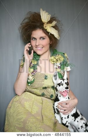 Modern Fashion Original Woman Talking Phone