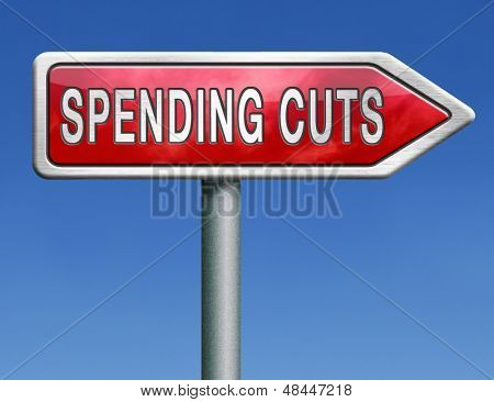 spending cut lower budgets and public spendings cuts economic recession
