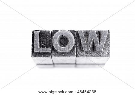 LOW Sign