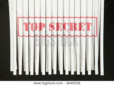 Shredded Document - Top Secret