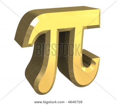 Pi Symbol In Gold
