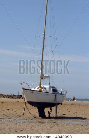 Small Sailboat Ashore