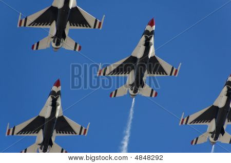 Military Fighter Aircraft Flight Demonstration