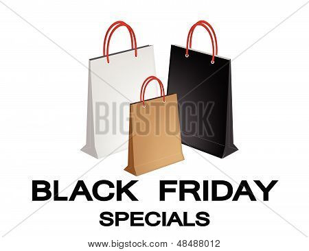 Paper Shopping Bags For Black Friday Special