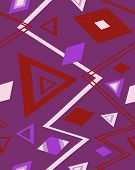 The sample of a background with triangles. Vector illustration poster