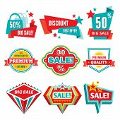 Sale & discount badges - abstract vector signs for different advertising actions & design works. poster
