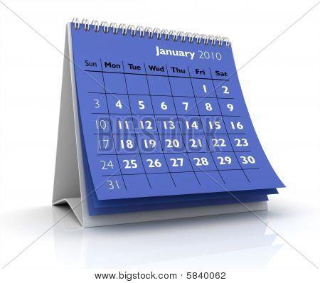 2010 Calendar. January