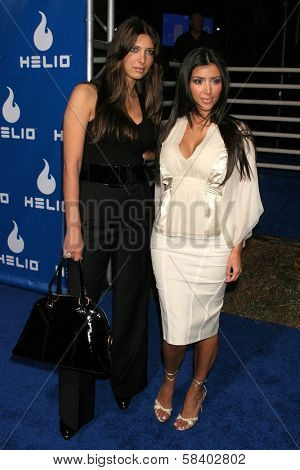 LOS ANGELES - NOVEMBER 13: Kim Kardashian and Brittney Gastineau at the Helio Drift Launch Party at 400 South La Brea on November 13, 2006 in Los Angeles, CA.
