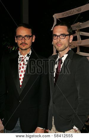 BEL AIR - OCTOBER 27: Viktor Horsting and Rolf Snoeren at the H And M Celebration of the Viktor And Rolf Collection on October 27, 2006 at Private Residence, Bel Air, CA.