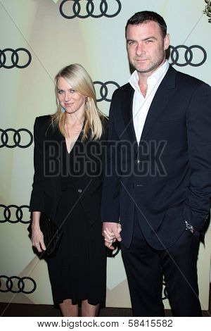 Naomi Watts and Liev Schreiber at the Audi Golden Globe 2013 Kick Off Cocktail Party, Cecconi's, West Hollywood, CA 01-06-13