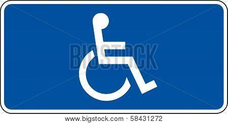 Blue handicapped sign