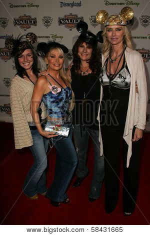 Kimberley Hefner and friends at the Disney Vault 28 Opening, Downtown Disney, Anaheim, California. November 12, 2006.