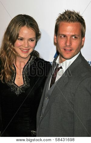 Jacinda Barrett and Gabriel Macht at the Friends of the Los Angles Free Clinic Annual Dinner Gala. Beverly Hilton Hotel, Beverly Hills, California, November 20, 2006.