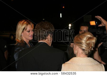 Tippi Hedren with Paul Ryan and Melanie Griffith at the tribute show