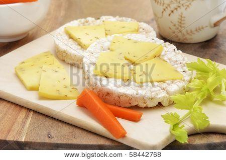 Rice Cake Cheese Snack