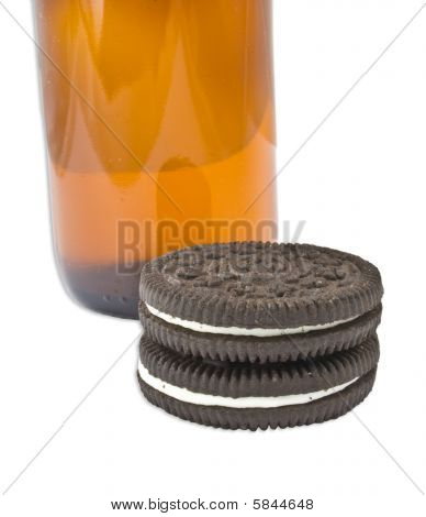 Isolated Bottle And Cookies