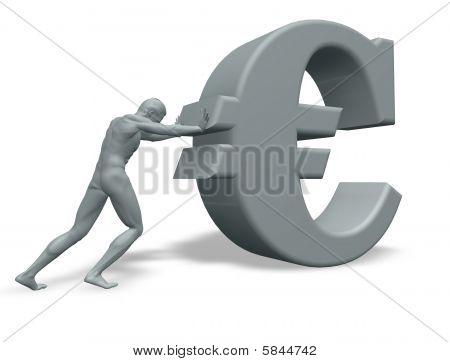 Man Pushes Euro