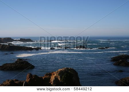 California Rocky Coast Landscape