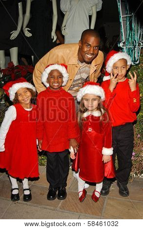 Kanye West at the Stella McCartney Holiday Window Lighting to benefit the Kanye West Foundation Loop Dreams Program, Stella McCartney Boutique, Los Angeles, CA, December 5, 2006.