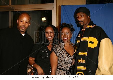 Snoop Dogg and Warren G at the premiere of
