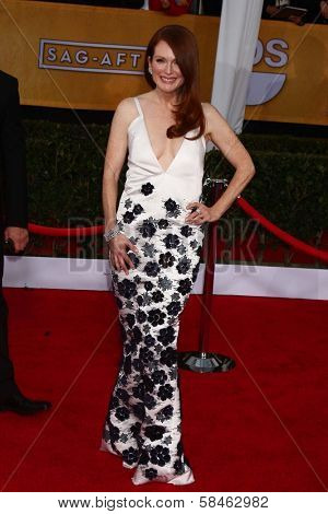 Julianne Moore at the 19th Annual Screen Actors Guild Awards Arrivals, Shrine Auditorium, Los Angeles, CA 01-27-13
