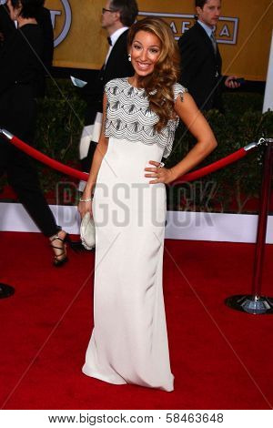 Vanessa Lengies at the 19th Annual Screen Actors Guild Awards Arrivals, Shrine Auditorium, Los Angeles, CA 01-27-13