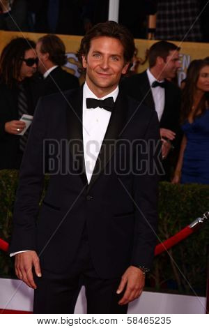 Bradley Cooper at the 19th Annual Screen Actors Guild Awards Arrivals, Shrine Auditorium, Los Angeles, CA 01-27-13