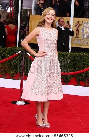 Kiernan Shipka at the 19th Annual Screen Actors Guild Awards Arrivals, Shrine Auditorium, Los Angeles, CA 01-27-13