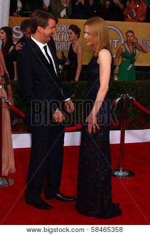 Tom Hooper, Nicole Kidman at the 19th Annual Screen Actors Guild Awards Arrivals, Shrine Auditorium, Los Angeles, CA 01-27-13