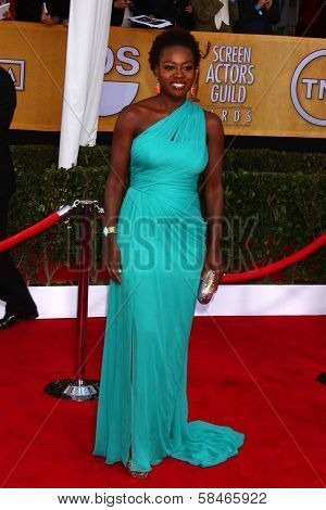 Viola Davis at the 19th Annual Screen Actors Guild Awards Arrivals, Shrine Auditorium, Los Angeles, CA 01-27-13