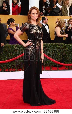 Jenna Fischer at the 19th Annual Screen Actors Guild Awards Arrivals, Shrine Auditorium, Los Angeles, CA 01-27-13