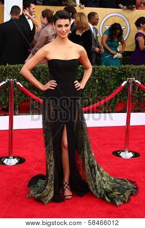 Morena Baccarin at the 19th Annual Screen Actors Guild Awards Arrivals, Shrine Auditorium, Los Angeles, CA 01-27-13