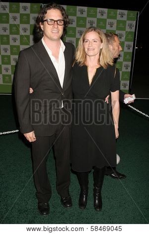 LOS ANGELES - NOVEMBER 08: Davis Guggenheim and Elisabeth Shue at the 16th Annual Environmental Media Association Awards at Wilshire Ebell Theatre November 08, 2006 in Los Angeles