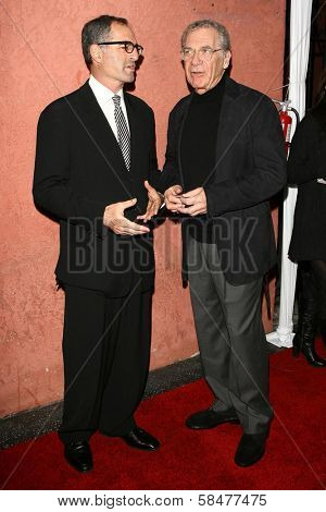David Frankel and Sydney Pollack at the Hollywood Life Magazine's Breakthrough of the Year Awards. Music Box, Hollywood, California. December 10, 2006.