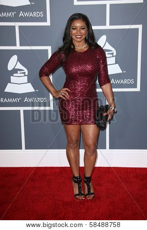 Tamala Jones at the 55th Annual GRAMMY Awards, Staples Center, Los Angeles, CA 02-10-13