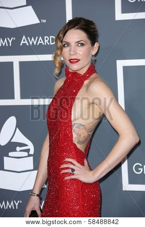 Skylar Grey at the 55th Annual GRAMMY Awards, Staples Center, Los Angeles, CA 02-10-13