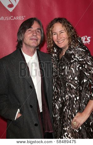 Jackson Browne, Dianna Cohen at MusiCares Person Of The Year Honoring Bruce Springsteen, Los Angeles Convention Center, Los Angeles, CA 02-08-13