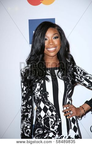 Brandy Norwood at the 2013 Clive Davis And Recording Academy Pre-Grammy Gala, Beverly Hilton Hotel, Beverly Hills, CA 02-09-13
