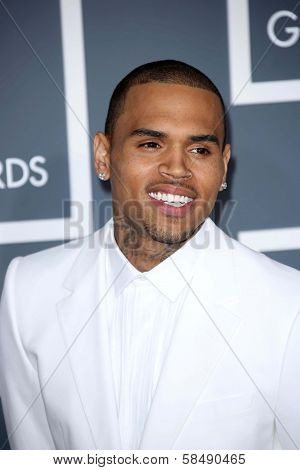 Chris Brown at the 55th Annual GRAMMY Awards, Staples Center, Los Angeles, CA 02-10-13