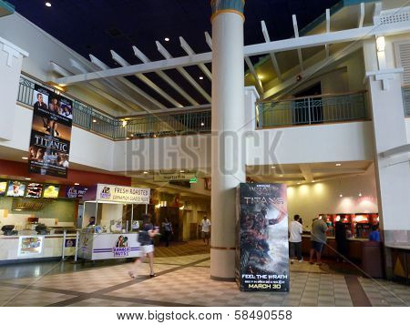 Inside Movie Theater Food Area As Movie Goers Visits Ward Stadium