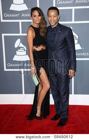 John Legend, Chrissy Teigen at the 55th Annual GRAMMY Awards, Staples Center, Los Angeles, CA 02-10-13