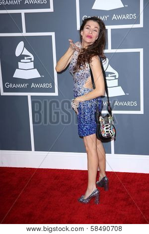 Alicia Arden at the 55th Annual GRAMMY Awards, Staples Center, Los Angeles, CA 02-10-13