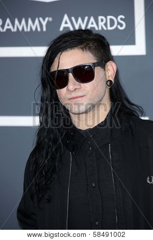 Skrillex at the 55th Annual GRAMMY Awards, Staples Center, Los Angeles, CA 02-10-13