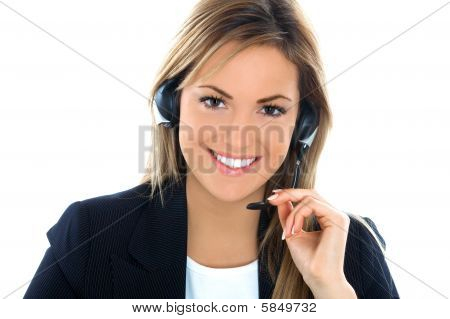Young Assistant With Headphones