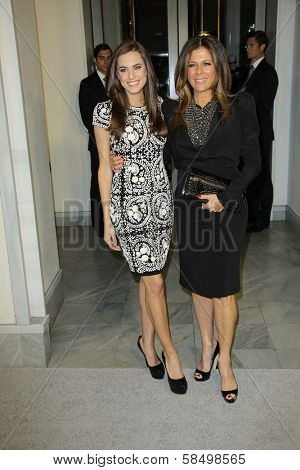 Allison Williams and Rita Wilson at Tom Ford Cocktails In Support Of Project Angel Food Media. Tom Ford, Beverly Hills, CA 02-21-13