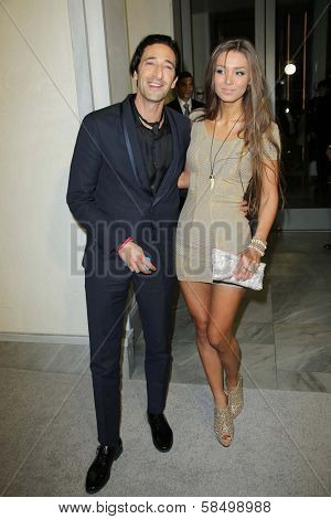 Adrien Brody and Lara Lieto at Tom Ford Cocktails In Support Of Project Angel Food Media. Tom Ford, Beverly Hills, CA 02-21-13