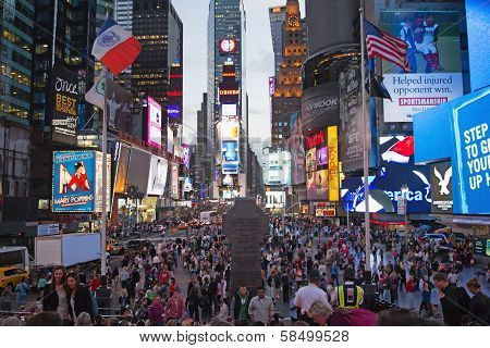 Times Square At Night (new York City, Usa)
